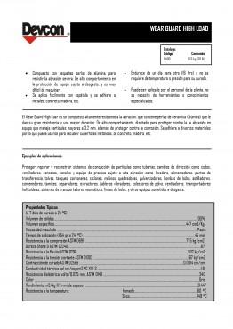 Sistema Epóxico resistente a la abrasión, Wear Guard High Load, Devcon Industrial