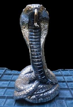 COBRA EN PLATA en ARTESANÍAS de plata
