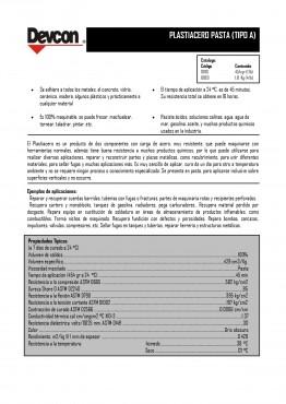 Plastiacero Pasta Normal,  Reparadores con carga de Metal, Adhesivo Epóxico