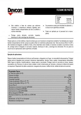 Flexane Pasta 80, Compuesto reparador de Uretano flexible