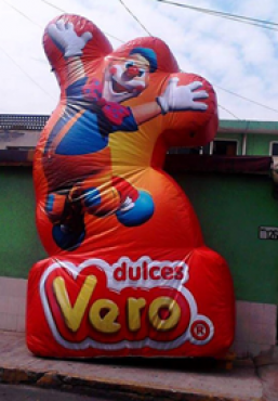 INFLABLE DULCES VERO, PUBLICIDAD INFLABLE