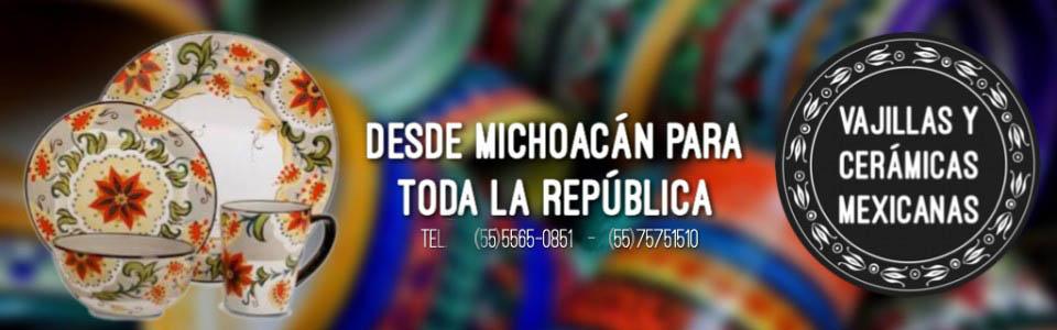 VAJILLAS Y CERÁMICAS MEXICANAS