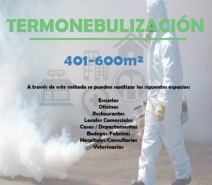 TERMONEBULIZACIÓN 401-600M², MEDISVET