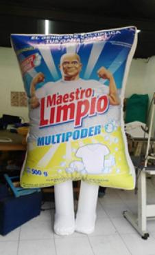 BOTARGA DE MAESTRO LIMPIO, PUBLICIDAD INFLABLE