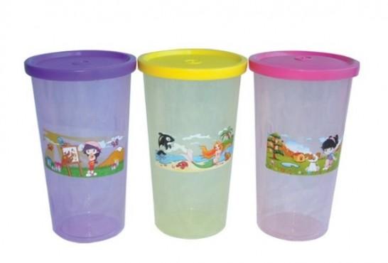 3 Vasos con Tapa