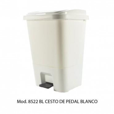 CESTO DE PEDAL BLANCO 17L, SABLÓN