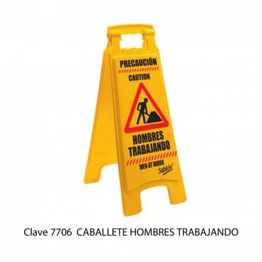 CABALLETE: HOMBRES TRABAJANDO, SABLON