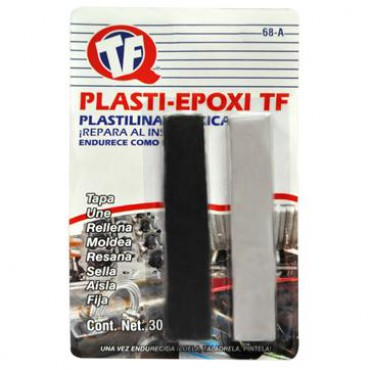 Plasti-Epoxy TF con carga de Acero, endurecen como el acero, con resinas epóxica