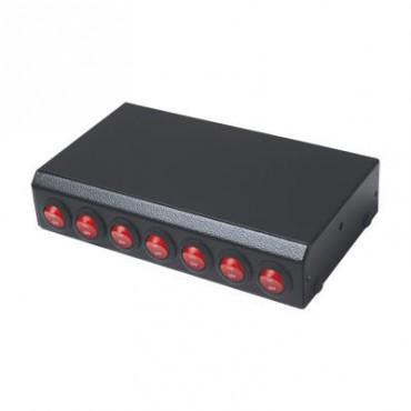 Switchera con 7 interruptores para barra de luces