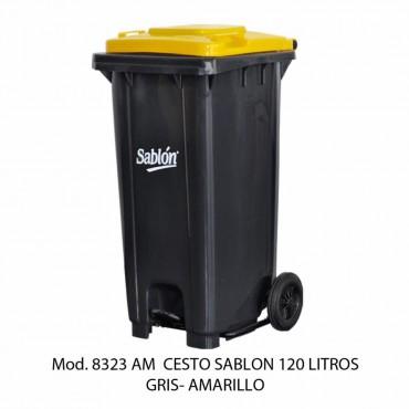 CESTO DE BASURA  CON RUEDAS, SABLÓN