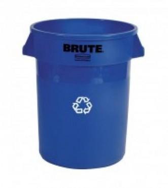 Contenedor BRUTE® para reciclaje con canales de ventilación 166L