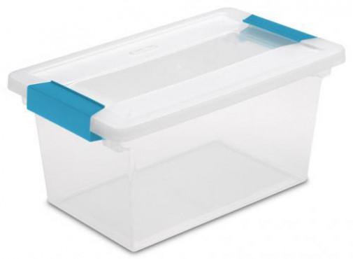 CAJA MEDIANA CLIP BOX 3 LB/1.4 KG, CAJA DE PLASTICO CON BROCHE, STERILITE