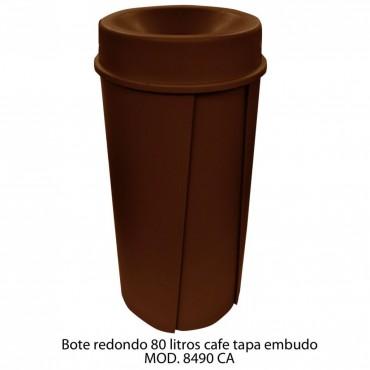 BOTE DE BASURA REDONDO 80 LTS, SABLÓN