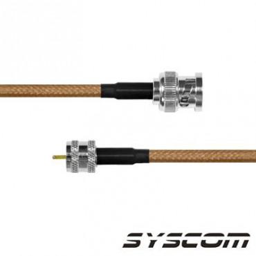 Cable RG142 con conectores BNC MACHO/MINI UHF MACHO.