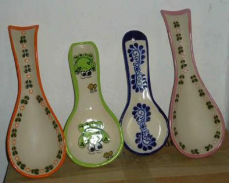 Porta-cucharas sol elaboradas en cerámica de alta temperatura
