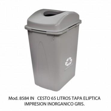 BOTE DE BASURA TAPA ELIPTICA