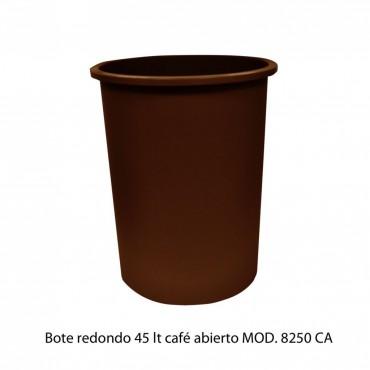 BOTE DE BASURA REDONDO 45L, SABLÓN