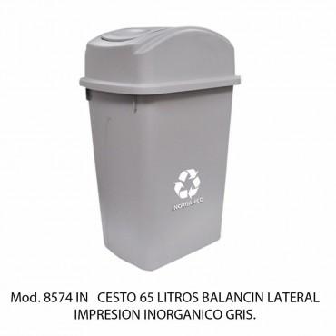 CESTO CON BALANCÍN LATERAL CON ETIQUETA