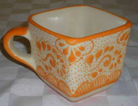 Taza Cerealera Decorado Punto elaborado en cerámica de alta temperatura