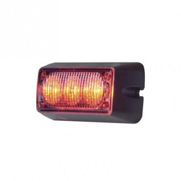 Luz Auxiliar Brillante con 3 LEDs, Color Rojo, Mica Transparente