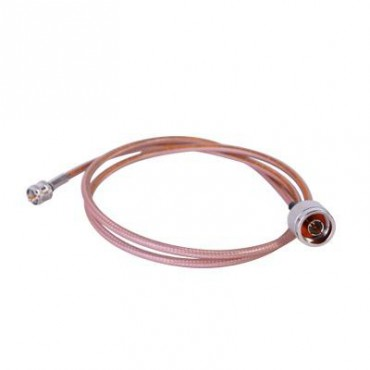 Cable RG142 con conectores N macho / Mini UHF macho de 100 cm