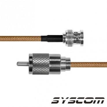 Cable RG142,con conectores BNC Macho / UHF Macho