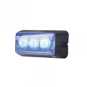 Luz auxiliar brillante con 3 LEDs, color azul, mica transparente