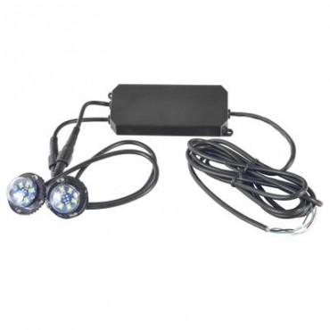 Par de Lámparas Ultra Brillantes con 6 LED cada una, color Claro