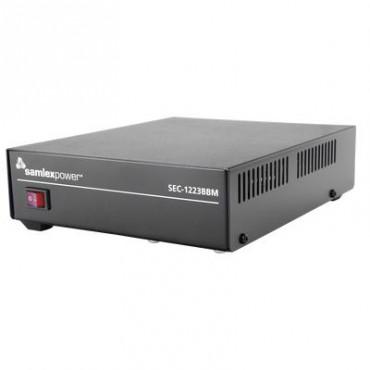 Fuente de poder 13.8V, 23A, conmutada con circuito cargador de baterías