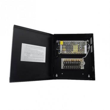 Fuente de Poder Profesional para CCTV de 16 Salidas a 12 Vcd. 10 Amp