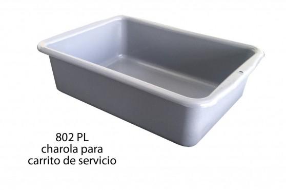 CHAROLA SIN DIVISIONES PARA CARRITO DE SERVICIO
