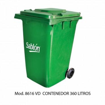 CONTENEDOR 360L VERDE, SABLÓN