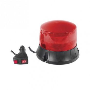 Burbuja LED giratoria color rojo, 9 LEDs, montaje magnético