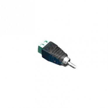 Adaptador RCA para video o audio con terminal atornillable