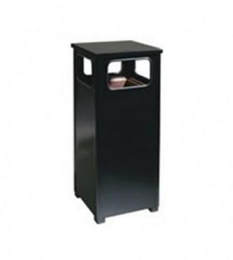 Contenedores Decorativos, Columna para fumadores color negro o gris metálico