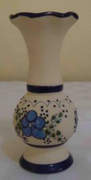 Florero Ondulado de cerámica de alta temperatura elaborado a mano