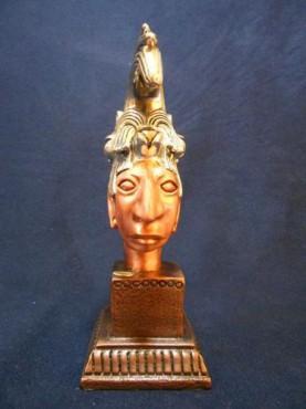 CABEZA DE PALENQUE CHICA 2,en  artesanías de plata.