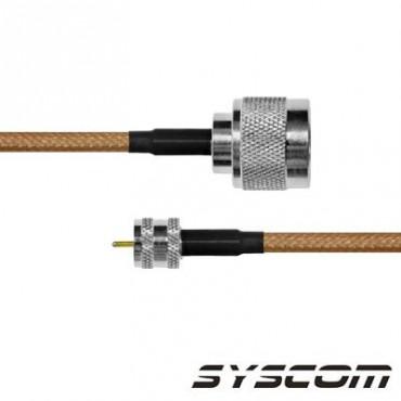 Cable RG142, con conectores N Macho / MINI UHF Macho