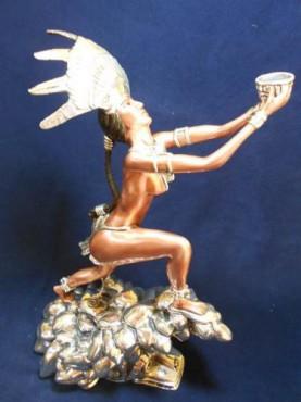 OFRENDA QUETZAL,EN  Artesanía de plata