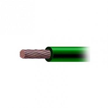 Cable de Cobre Recubierto THW-LS Calibre 4 AWG 19 Hilos Color Verde (50 metros)