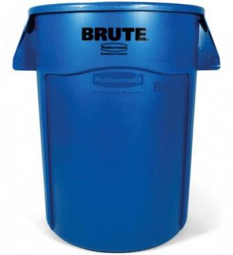 Contenedor redondo BRUTE sin tapa de 208 L, Bote para basura de plástico BRUTE