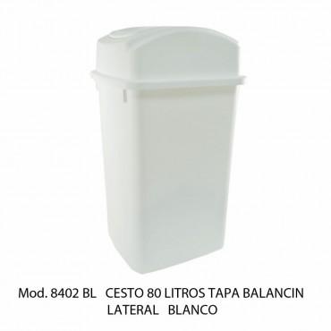 CESTO 80L BLANCO BALANCIN LATERAL, SABLON