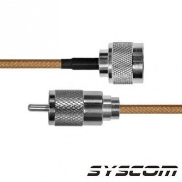 Cable RG142, con conductores N Macho / UHF (PL-259) Macho