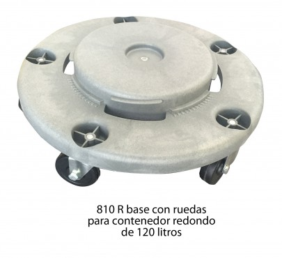 RUEDAS PARA CESTO DE BASURA 120 LTS, SABLÓN