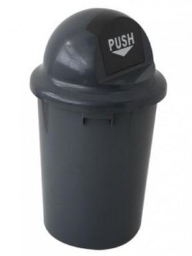 Bote de basura redondo 60 L, PELDAÑOS