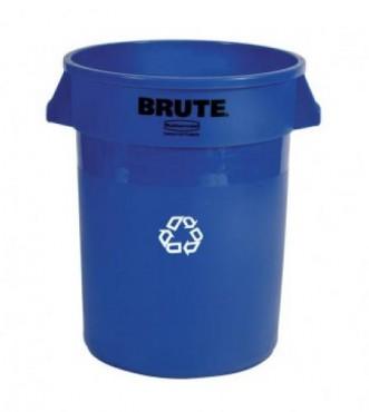 Contenedor para reciclaje sin tapa de 76 litros color azul, BRUTE BOTE