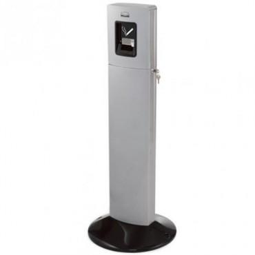 Manejo de desechos para fumadores atractivo y eficiente Metropólitan gris metálico