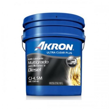 ACEITE DE MOTOR AKRON ULTRA CLEAR PLUS API CJ-4 SM MULTIGRADO DIESEL SAE 15W-40