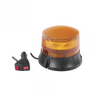 Burbuja LED giratoria de color ámbar, 9 LEDs, montaje magnético