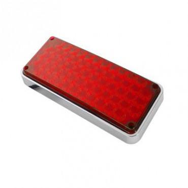 Luz de Advertencia Rojo Ideal para Ambulancias de 7X3